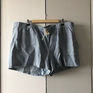 J. Crew Blue and White Striped Shorts Size 3X